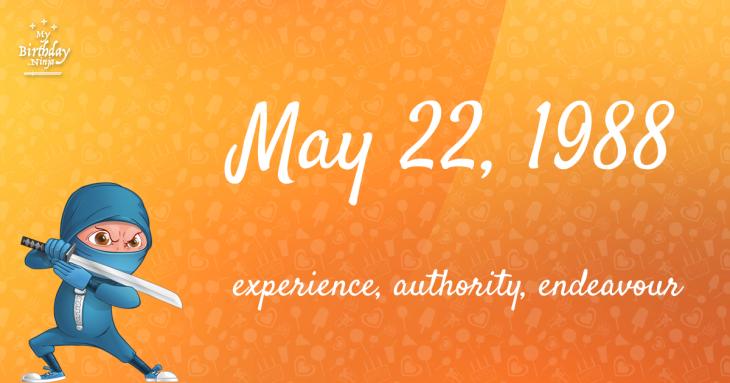 May 22, 1988 Birthday Ninja
