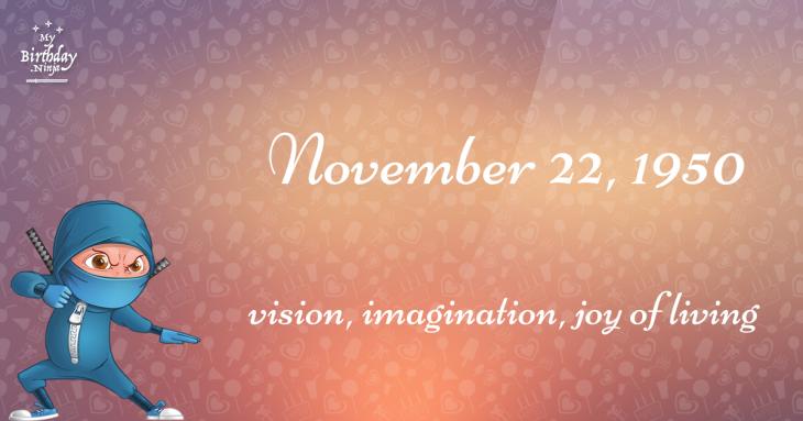 November 22, 1950 Birthday Ninja