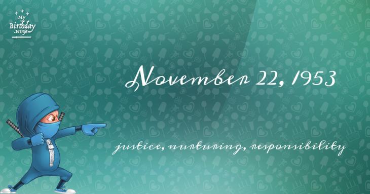 November 22, 1953 Birthday Ninja