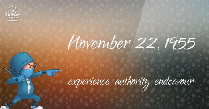 November 22, 1955 Birthday Ninja