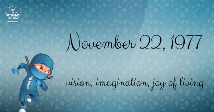 November 22, 1977 Birthday Ninja