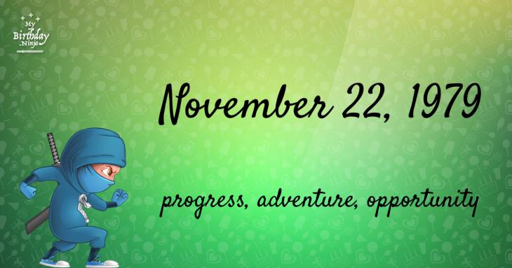 November 22, 1979 Birthday Ninja