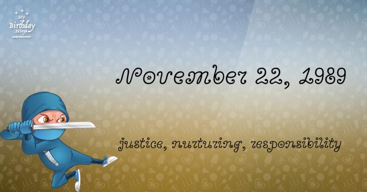 November 22, 1989 Birthday Ninja