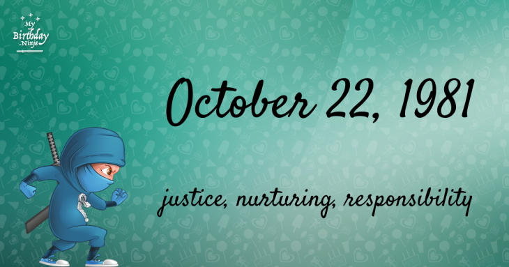 October 22, 1981 Birthday Ninja