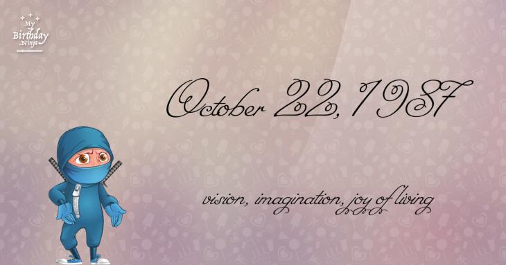 October 22, 1987 Birthday Ninja