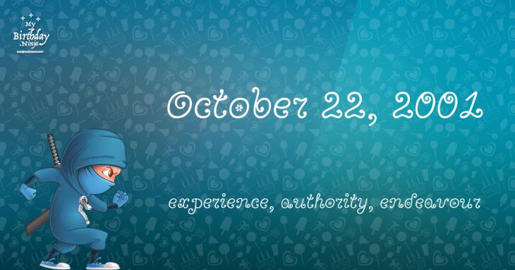 October 22, 2001 Birthday Ninja