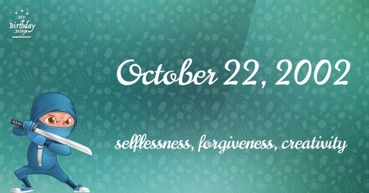 October 22, 2002 Birthday Ninja