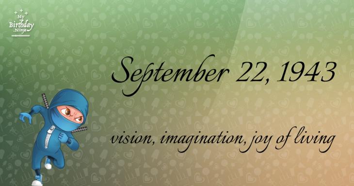 September 22, 1943 Birthday Ninja