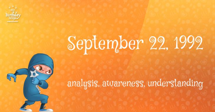 September 22, 1992 Birthday Ninja