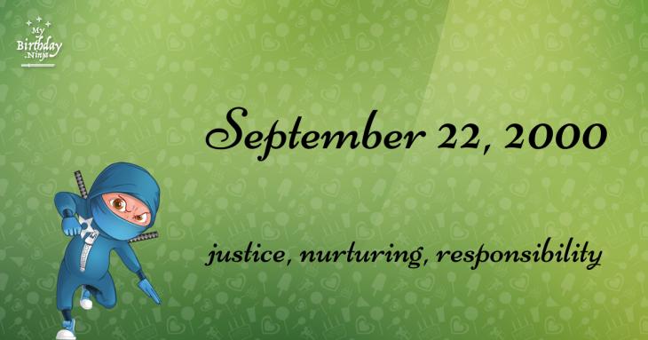 September 22, 2000 Birthday Ninja