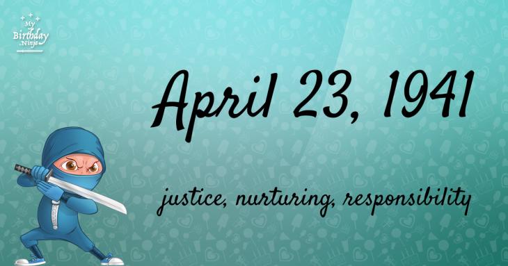 April 23, 1941 Birthday Ninja
