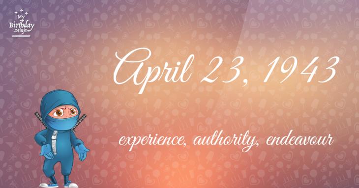 April 23, 1943 Birthday Ninja
