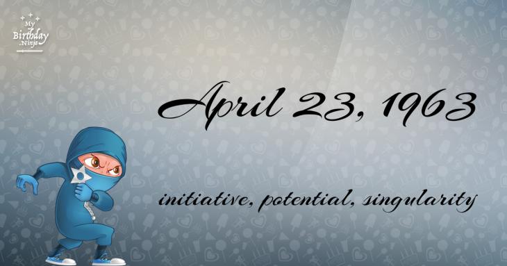April 23, 1963 Birthday Ninja
