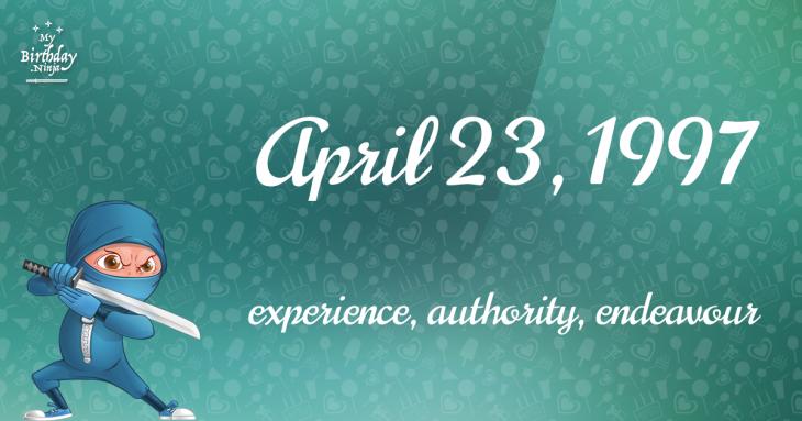 April 23, 1997 Birthday Ninja