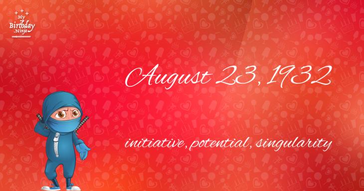 August 23, 1932 Birthday Ninja