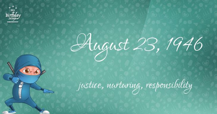 August 23, 1946 Birthday Ninja