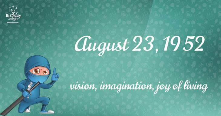August 23, 1952 Birthday Ninja