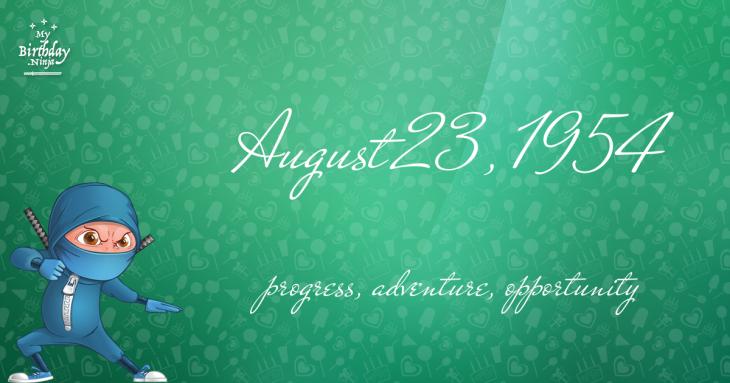 August 23, 1954 Birthday Ninja