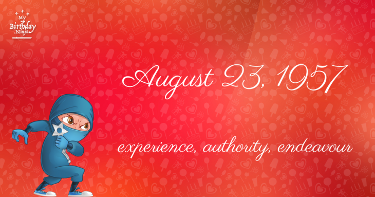 August 23, 1957 Birthday Ninja