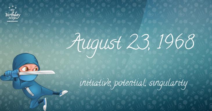 August 23, 1968 Birthday Ninja