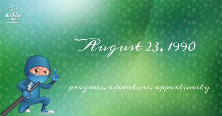 August 23, 1990 Birthday Ninja