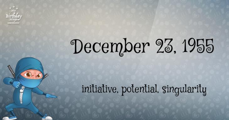 December 23, 1955 Birthday Ninja