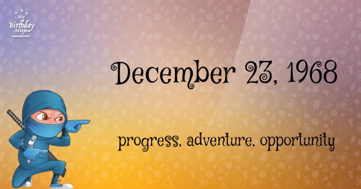 December 23, 1968 Birthday Ninja