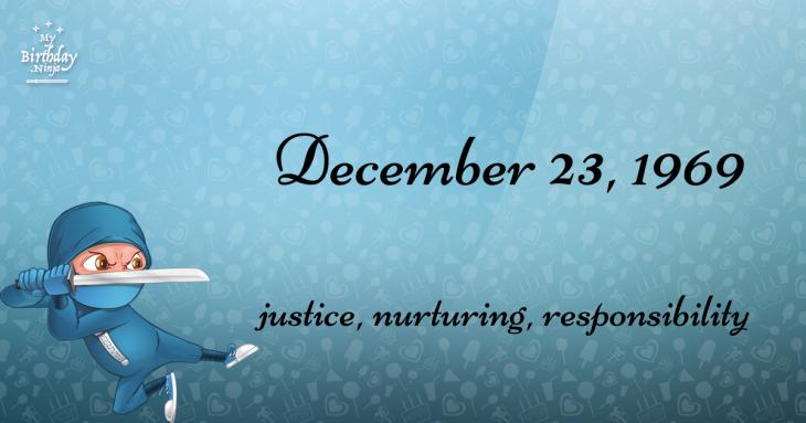 December 23, 1969 Birthday Ninja