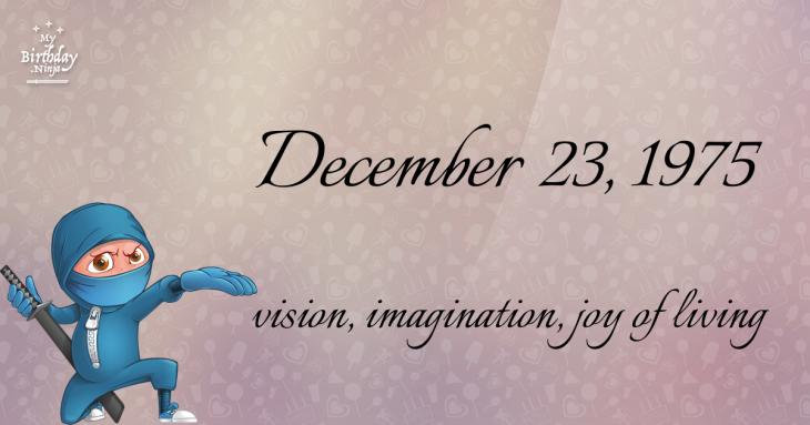 December 23, 1975 Birthday Ninja