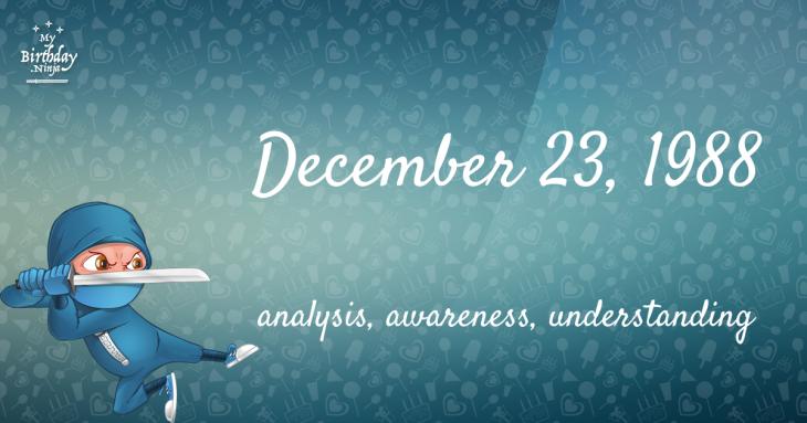 December 23, 1988 Birthday Ninja