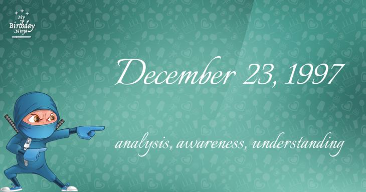 December 23, 1997 Birthday Ninja