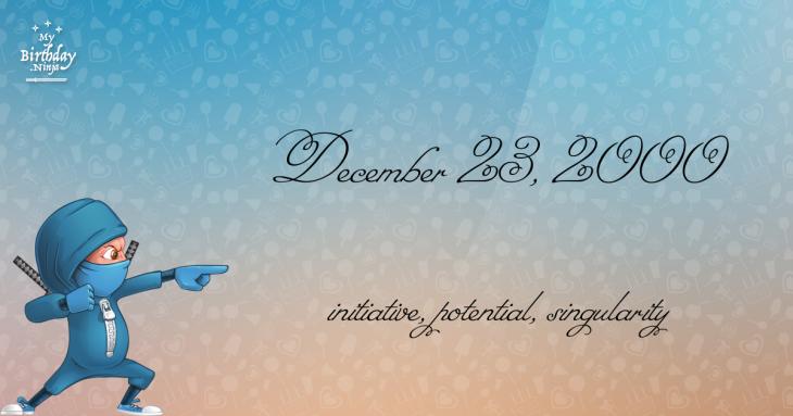 December 23, 2000 Birthday Ninja