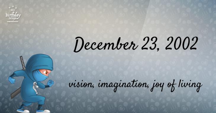 December 23, 2002 Birthday Ninja