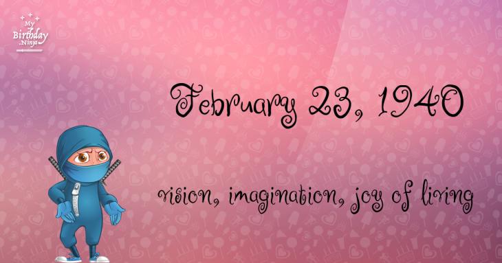 February 23, 1940 Birthday Ninja