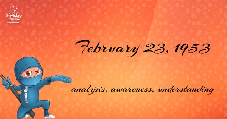 February 23, 1953 Birthday Ninja