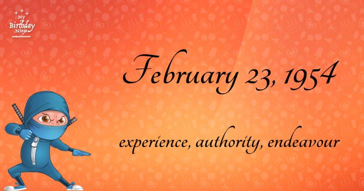 February 23, 1954 Birthday Ninja