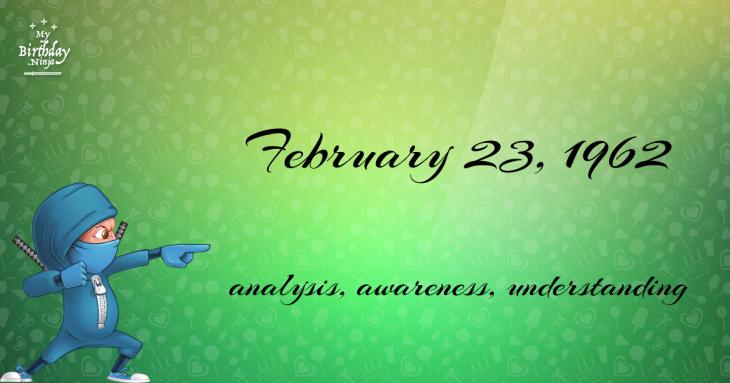 February 23, 1962 Birthday Ninja