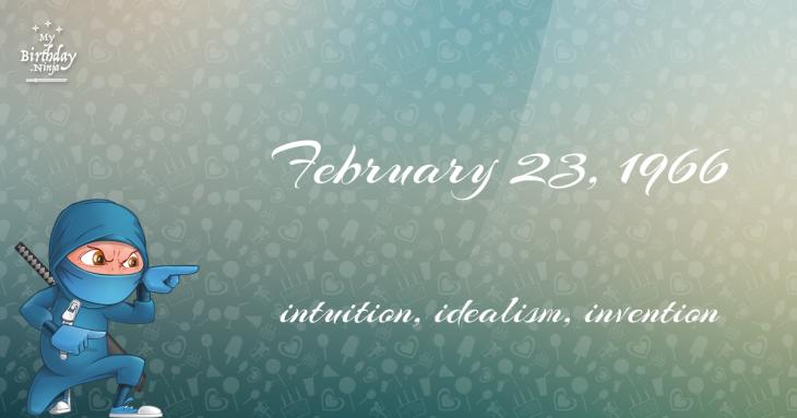February 23, 1966 Birthday Ninja