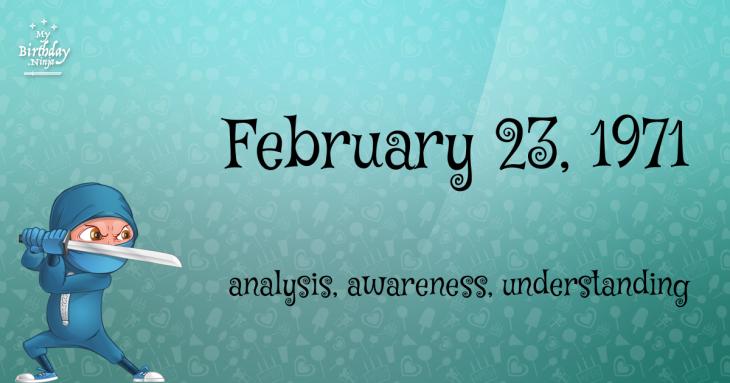 February 23, 1971 Birthday Ninja