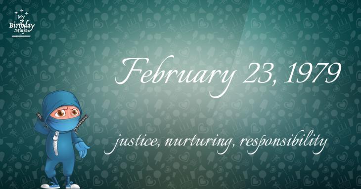 February 23, 1979 Birthday Ninja