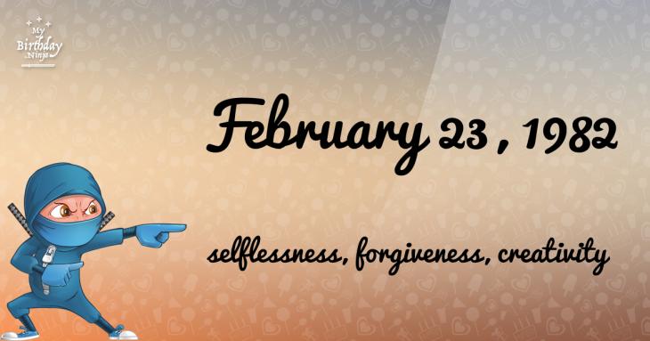 February 23, 1982 Birthday Ninja