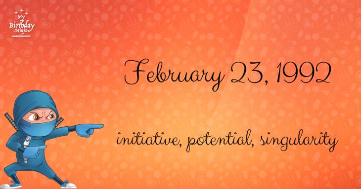 February 23, 1992 Birthday Ninja