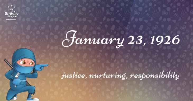 January 23, 1926 Birthday Ninja