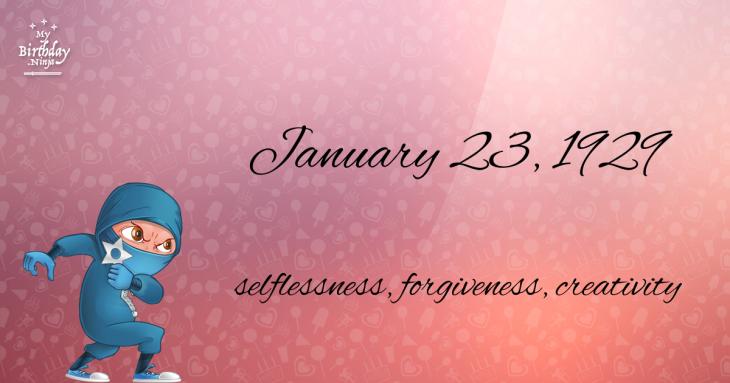 January 23, 1929 Birthday Ninja