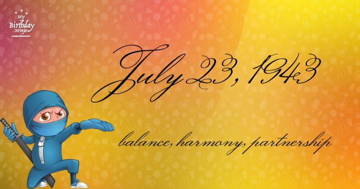 July 23, 1943 Birthday Ninja