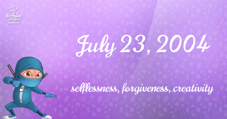 July 23, 2004 Birthday Ninja