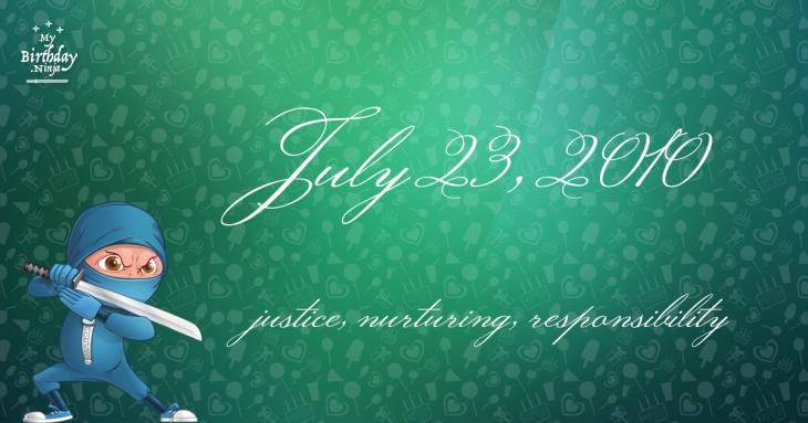July 23, 2010 Birthday Ninja