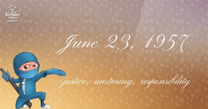 June 23, 1957 Birthday Ninja