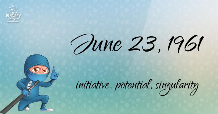 June 23, 1961 Birthday Ninja