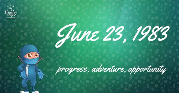 June 23, 1983 Birthday Ninja